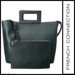| French Connection | Corey Tote in ink green |